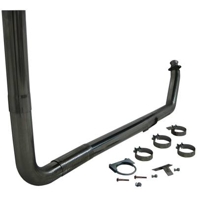 "Exhaust Systems / Manifolds - Turbo Back Duals - MBRP Exhaust - MBRP Exhaust 4"" Turbo Back, Single SMOKERS, T409 S8112409"
