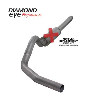 "Diamond Eye Performance - Diamond Eye Performance 1994-1997.5 FORD 7.3L POWERSTROKE F250/F350 (ALL CAB AND BED LENGTHS) K4310S-RP - 4"" STAINLESS - CAT BACK SINGLE - Image 1"