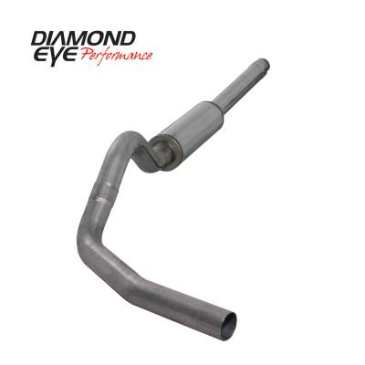 "Diamond Eye Performance - Diamond Eye Performance 1994-1997.5 FORD 7.3L POWERSTROKE F250/F350 (ALL CAB AND BED LENGTHS) K4310S-RP - 4"" STAINLESS - CAT BACK SINGLE - Image 2"