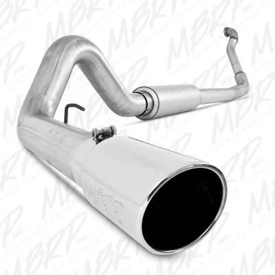 "Exhaust Systems / Manifolds - Turbo Back Single - MBRP Exhaust - MBRP Exhaust 4"" Turbo Back, Single Side Exit, Off-Road (Aluminized 3"" downpipe), AL S6218AL"