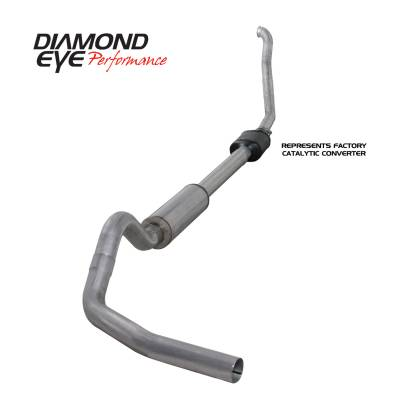 Exhaust Systems / Manifolds - Turbo Back Single - Diamond Eye Performance - Diamond Eye Performance 1994-1997.5 FORD 7.3L POWERSTROKE F250/F350 (ALL CAB AND BED LENGTHS) 4in. ALUMI K4306A
