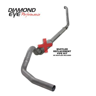 Exhaust Systems / Manifolds - Turbo Back Single - Diamond Eye Performance - Diamond Eye Performance 1994-1997.5 FORD 7.3L POWERSTROKE F250/F350 (ALL CAB AND BED LENGTHS) 4in. 409 S K4307S-RP