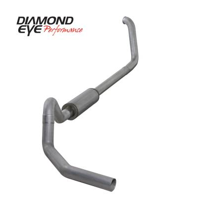 Exhaust Systems / Manifolds - Turbo Back Duals - Diamond Eye Performance - Diamond Eye Performance 1999.5-2003.5 FORD 7.3L POWERSTROKE F250/F350 CAB/CHASSIS-4in. ALUMINIZED-PERFOR K4326A