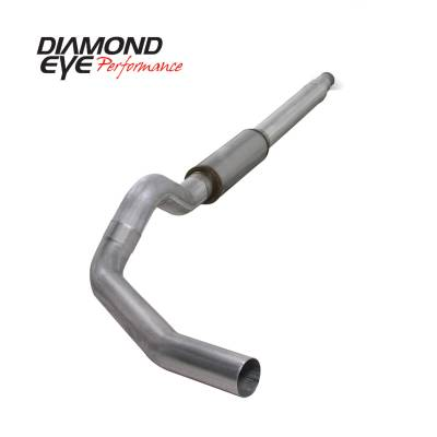 "Diamond Eye Performance - Diamond Eye Performance 1994-1997.5 FORD 7.3L POWERSTROKE F250/F350 (ALL CAB AND BED LENGTHS) K5316A - 5"" ALUMINIZED - CAT BACK SINGLE - Image 1"