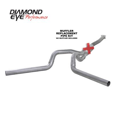 Exhaust Systems / Manifolds - Turbo Back Duals - Diamond Eye Performance - Diamond Eye Performance 2001-2005 CHEVY/GMC 6.6L DURAMAX 2500/3500 (ALL CAB AND BED LENGTHS)-4in. ALUMIN K4112A-RP