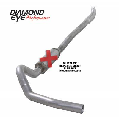 Exhaust Systems / Manifolds - Turbo Back Duals - Diamond Eye Performance - Diamond Eye Performance 2001-2007.5 CHEVY/GMC 6.6L DURAMAX 2500/3500 (ALL CAB AND BED LENGTHS)-4in. ALUM K4113A-RP