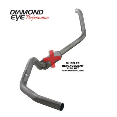 Exhaust Systems / Manifolds - Turbo Back Single - Diamond Eye Performance - Diamond Eye Performance 1999-2003.5 FORD 7.3L POWERSTROKE F250/F350 (ALL CAB AND BED LENGTHS) 4in. 409 S K4318S-RP