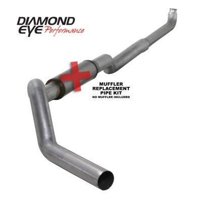 Exhaust Systems / Manifolds - Turbo Back Duals - Diamond Eye Performance - Diamond Eye Performance 2001-2007.5 CHEVY/GMC 6.6L DURAMAX 2500/3500 (ALL CAB AND BED LENGHTS) 5in. ALUM K5118A-RP