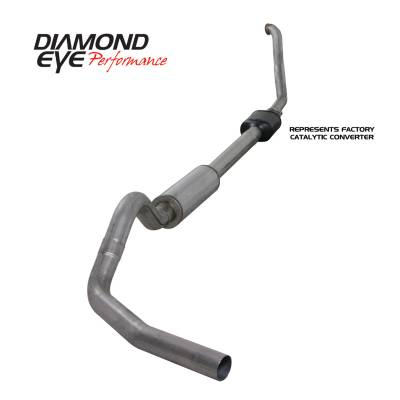 Exhaust Systems / Manifolds - Turbo Back Single - Diamond Eye Performance - Diamond Eye Performance 1994-1997.5 FORD 7.3L POWERSTROKE F250/F350 (ALL CAB AND BED LENGTHS) 4in. 409 S K4306S