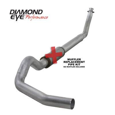 Exhaust Systems / Manifolds - Turbo Back Single - Diamond Eye Performance - Diamond Eye Performance 1994-2002 DODGE 5.9L CUMMINS 2500/3500 (ALL CAB AND BED LENGTHS)-5in. ALUMINIZED K5216A-RP