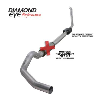 Exhaust Systems / Manifolds - Turbo Back Single - Diamond Eye Performance - Diamond Eye Performance 1994-1997.5 FORD 7.3L POWERSTROKE F250/F350 (ALL CAB AND BED LENGTHS) 5in. ALUMI K5314A-RP