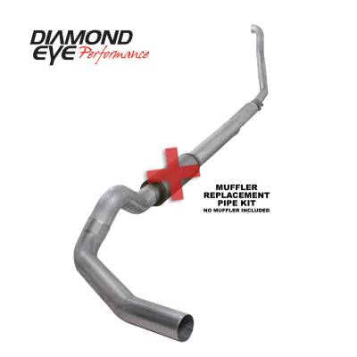 Exhaust Systems / Manifolds - Turbo Back Single - Diamond Eye Performance - Diamond Eye Performance 1994-1997.5 FORD 7.3L POWERSTROKE F250/F350 (ALL CAB AND BED LENGTHS) 5in. ALUMI K5315A-RP