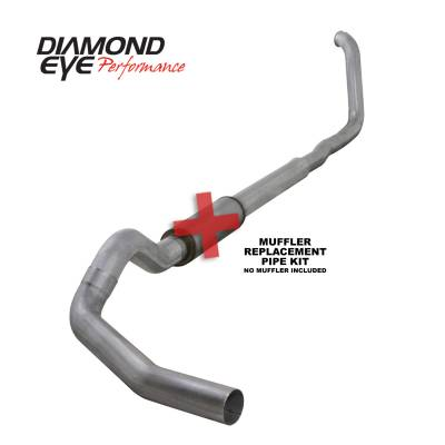 Exhaust Systems / Manifolds - Turbo Back Single - Diamond Eye Performance - Diamond Eye Performance 1999-2003.5 FORD 7.3L POWERSTROKE F250/F350 (ALL CAB AND BED LENGTHS) 5in. ALUMI K5322A-RP
