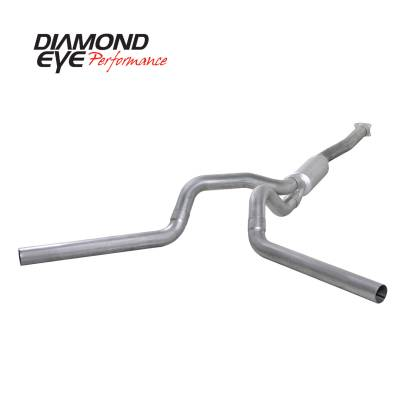Exhaust Systems / Manifolds - Turbo Back Duals - Diamond Eye Performance - Diamond Eye Performance 2001-2005 CHEVY/GMC 6.6L DURAMAX 2500/3500 (ALL CAB AND BED LENGTHS)-4in. ALUMIN K4112A