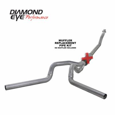 Exhaust Systems / Manifolds - Turbo Back Single - Diamond Eye Performance - Diamond Eye Performance 1994-2002 DODGE 5.9L CUMMINS 2500/3500 (ALL CAB AND BED LENGTHS)-4in. ALUMINIZED K4214A-RP