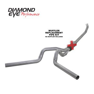 Diamond Eye Performance - Diamond Eye Performance 2003-2004.5 DODGE 5.9L CUMMINS 2500/3500 (ALL CAB AND BED LENGTHS)-4in. ALUMINIZ K4220A-RP