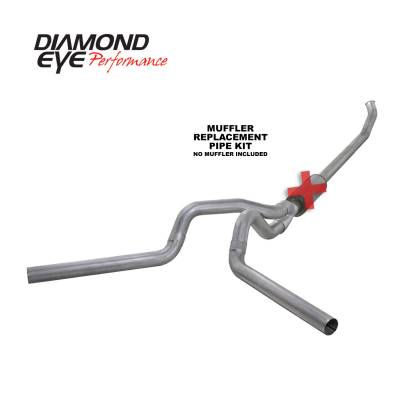 Diamond Eye Performance - Diamond Eye Performance 2004.5-2007.5 DODGE 5.9L CUMMINS 2500/3500 (ALL CAB AND BED LENGTHS)-4in. ALUMIN K4237A-RP - Image 1