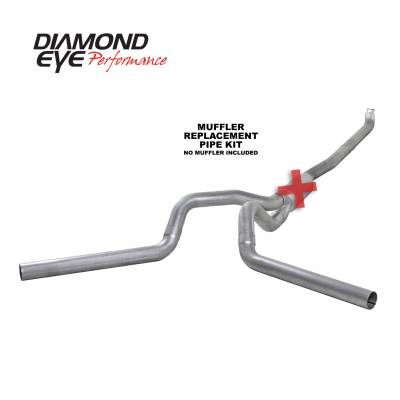 Exhaust Systems / Manifolds - Turbo Back Duals - Diamond Eye Performance - Diamond Eye Performance 2001-2007.5 CHEVY/GMC 6.6L DURAMAX 2500/3500 (ALL CAB AND BED LENGTHS) 4in. ALUM K4116A-RP