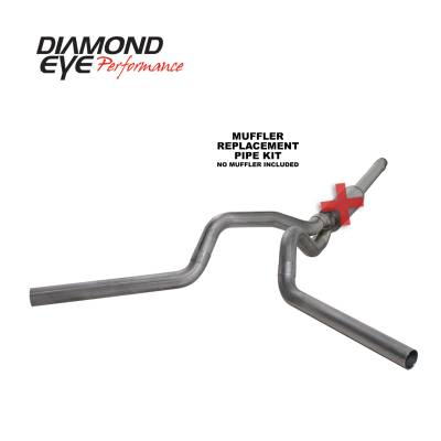 Diamond Eye Performance - Diamond Eye Performance 1994-1997.5 FORD 7.3L POWERSTROKE F250/F350 Cat-Back Dual (ALL CAB AND BED LENGTHS) 4in. 409 S K4312S-RP