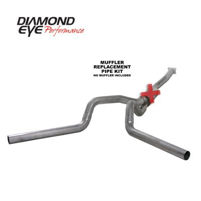 Exhaust Systems / Manifolds - Turbo Back Duals - Diamond Eye Performance - Diamond Eye Performance 2001-2005 CHEVY/GMC 6.6L DURAMAX 2500/3500 (ALL CAB AND BED LENGTHS)-4in. 409 ST K4112S-RP