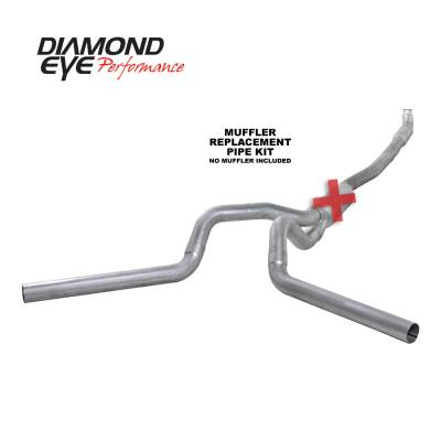 Exhaust Systems / Manifolds - Turbo Back Duals - Diamond Eye Performance - Diamond Eye Performance 2001-2007.5 CHEVY/GMC 6.6L DURAMAX 2500/3500 (ALL CAB AND BED LENGTHS) 4in. ALUM K4115A-RP
