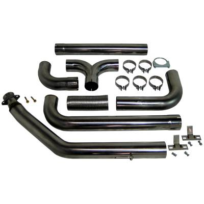 "Exhaust Systems / Manifolds - Turbo Back Single - MBRP Exhaust - MBRP Exhaust 4"" Turbo Back Dual SMOKERS, T409 S8100409"
