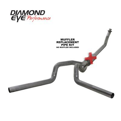 Diamond Eye Performance - Diamond Eye Performance 1994-2002 DODGE 5.9L CUMMINS 2500/3500 (ALL CAB AND BED LENGTHS)-4in. 409 STAINL K4214S-RP