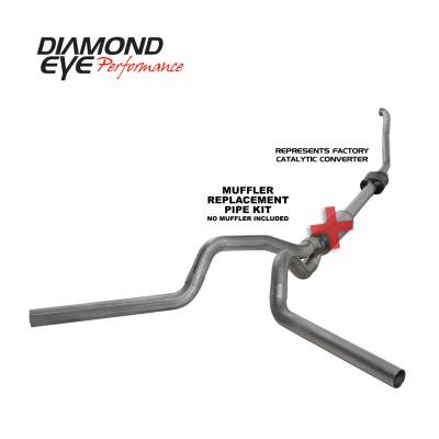 Exhaust Systems / Manifolds - Turbo Back Duals - Diamond Eye Performance - Diamond Eye Performance 1994-1997.5 FORD 7.3L POWERSTROKE F250/F350 (ALL CAB AND BED LENGTHS) 4in. 409 S K4308S-RP
