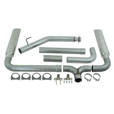 "Exhaust Systems / Manifolds - Turbo Back Duals - MBRP Exhaust - MBRP Exhaust 4"" Turbo Back, SMOKERS (incl. B1610 stacks), AL S9100AL"