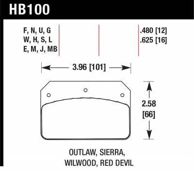 Hawk Performance - Hawk Performance Disc Brake Pad HB100E.625 - Image 1