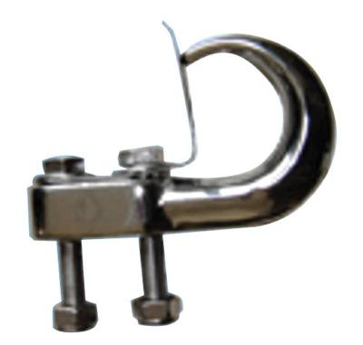 Bulldog Winch - Bulldog Winch Tow Hook, 10,000lb(4535kg) capacity,  chrome plated finish 20016