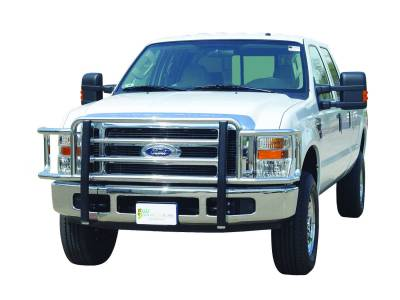 Go Industries -   77642 - Big Tex Grille Guard - Chrome - '08 - '10 Ford F-250 - F-550 Super Duty