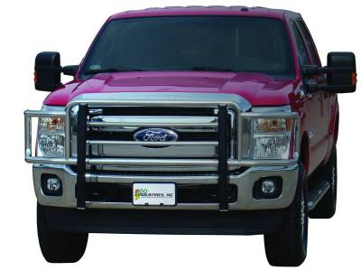 Go Industries - 77644 - Big Tex Grille Guard - Chrome - '11 - '16 Ford F-250 - F-550 Super Duty