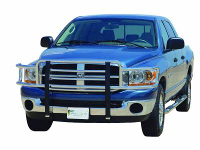 Go Industries - 77664 - Big Tex Grille Guard - Chrome - '06 - '08 Dodge Ram 1500 / '06 - '09 Dodge Ram 2500/3500 for Sport/Plastic Bumpers