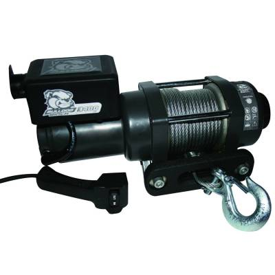 Exterior Accessories - Towing/Pulling & Cargo - Bulldog Winch - Bulldog Winch 3400lb Trailer/Utility Winch 45' Wire Rope, Hawse Fairlead, Mnt Plate 15017
