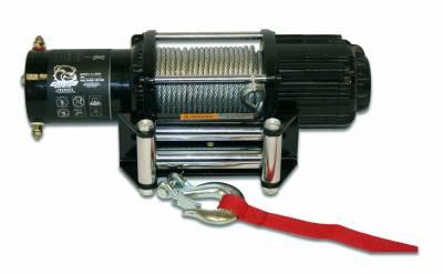 Bulldog Winch - Bulldog Winch 4000lb UTV/Utility Winch, Two Switches, Mounting Channel, Roller Fairlead 15004