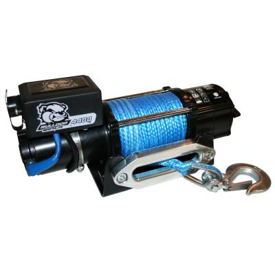 Bulldog Winch - Bulldog Winch 4400lb Trailer/Utility Winch 50' Syn Rope, Hawse Fairlead, Mnt Plate 15020