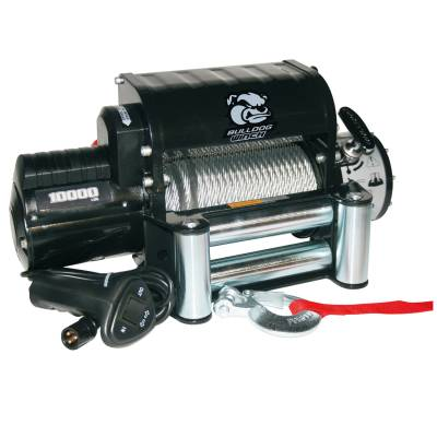 Bulldog Winch - Bulldog Winch 10000lb Winch w/5.8hp Series Wnd Motor, Integrated Pwr Unit, Roller Fairlead 10005