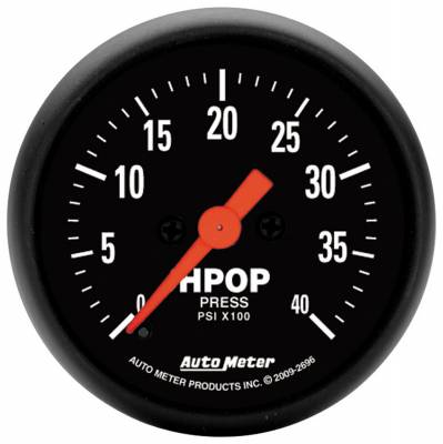 Gauges & Pods - AutoMeter - Auto Meter - Auto Meter Gauge; High Press Oil Pump; 2 1/16in.; 4kpsi; Digital Stepper Motor; Z Series 2696