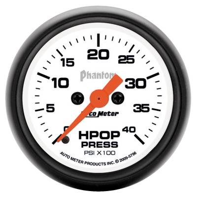 Auto Meter - Auto Meter Gauge; High Press Oil Pump; 2 1/16in.; 4kpsi; Digital Stepper Motor; Phantom 5796 - Image 2