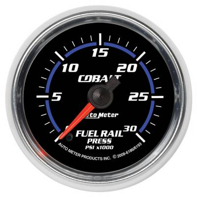 Auto Meter - Auto Meter Gauge; Rail Pressure (RAM 6.7L); 2 1/16in.; 30kpsi; Digital Stepper Motor; Cobal 6193