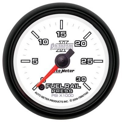 Auto Meter - Auto Meter Gauge; Rail Pressure (RAM 5.9L); 2 1/16in.; 30kpsi; Digital Stepper Motor; Phant 7586 - Image 2