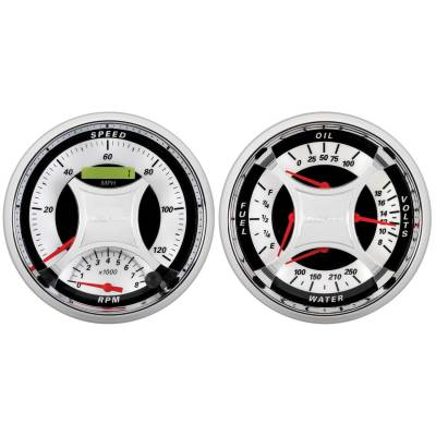 Gauges & Pods - IssPro - Auto Meter - Auto Meter Gauge Kit; 2 pc.; Quad/Tach/Speedo; 5in.; MCX 1103