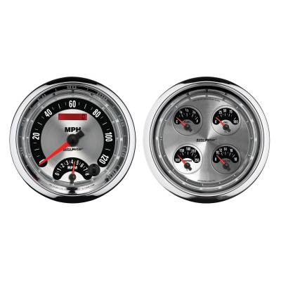 Gauges & Pods - IssPro - Auto Meter - Auto Meter Gauge Kit; 2 pc.; Quad/Tach/Speedo; 5in.; American Muscle 1205