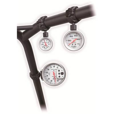 Auto Meter - Auto Meter Gauge Mount; Roll Pod for 1.5in. Roll Cage; fits 2 1/16in. gauge; Black 48000 - Image 2