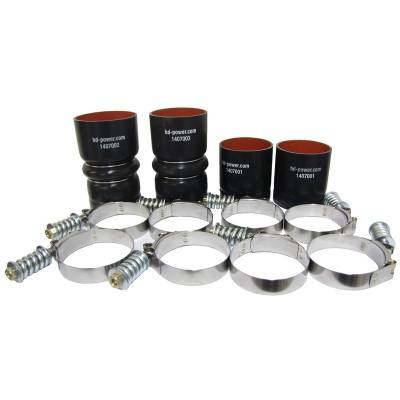 Intercoolers & Pipes - Pipes/Tubes & Accessories - BD Diesel - BD Diesel Intercooler Hose & Clamp Kit - 2008-2010 Ford 6.4L Powerstroke 1047037