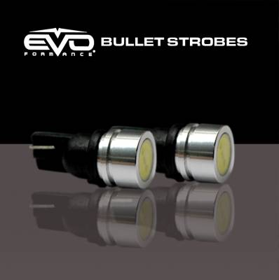 Cipa USA - Cipa USA EVO Formance Bullet Strobe - 1 Watt T-10 LED Strobe Bulbs - Red/Blue 93196