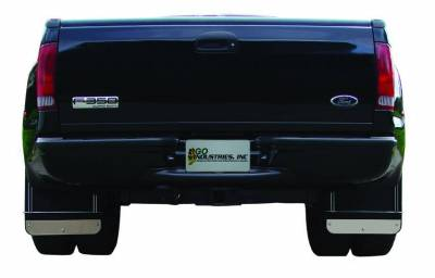 Lighting - Off Road Lighting / Light Bars - Go Industries - Go Industries Dual Wheel Stainless Mud Flap Set S70730SET