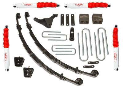 Suspension - Lift Kits - Tuff Country - Tuff Country COMPLETE KIT (W/SX8000 SHOCKS) FORD F250/F350 4IN. 24955KN