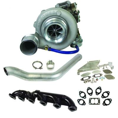 "Turbos & Twin Turbo Kits - Single ""Drop In"" Turbos - BD Diesel - BD Diesel Super B 600 Turbo Kit - Dodge 2007.5-2012 6.7L Cummins - S366/80 T3 0.80AR 1045141"